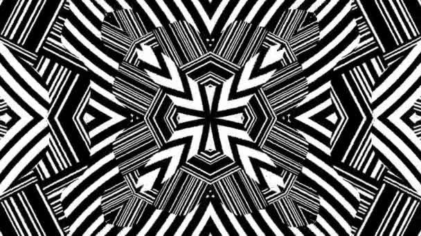 Black and White Kaleidoscopic Animation