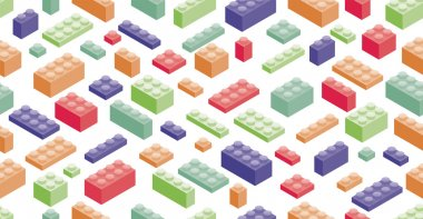 Isometric Plastic Building Blocks