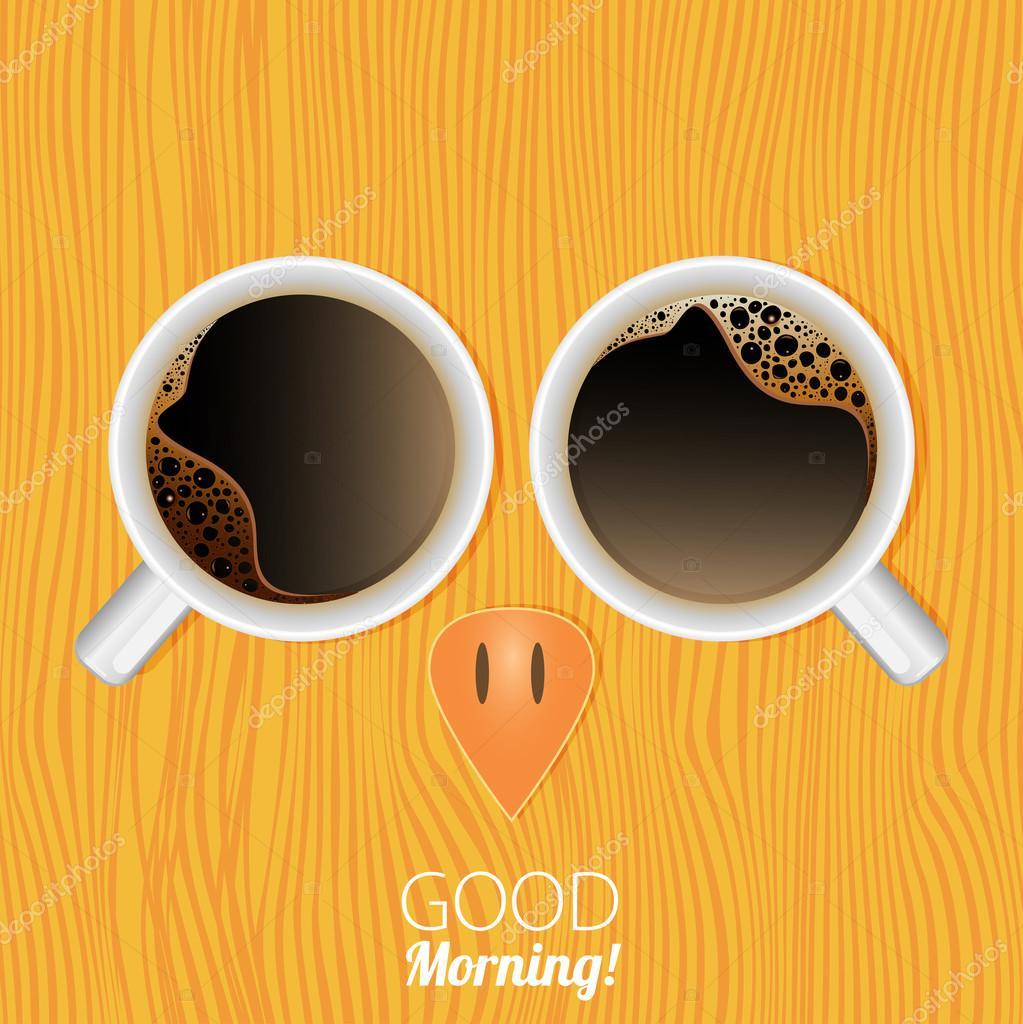 Tassen Kaffee Guten Morgen Stockvektor Mix3r 105383716