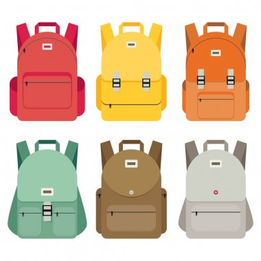 Bags for school icons