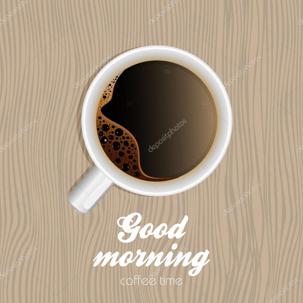 Tasse Kaffee. Guten Morgen — Stockvektor © Mix3r #122923174