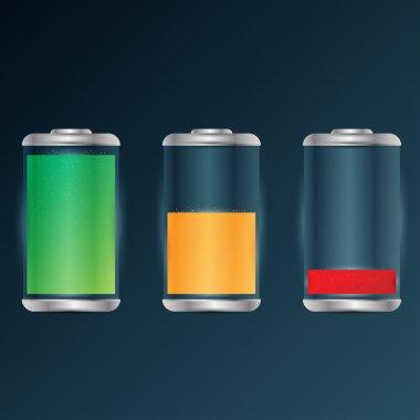 Battery charge level indicators