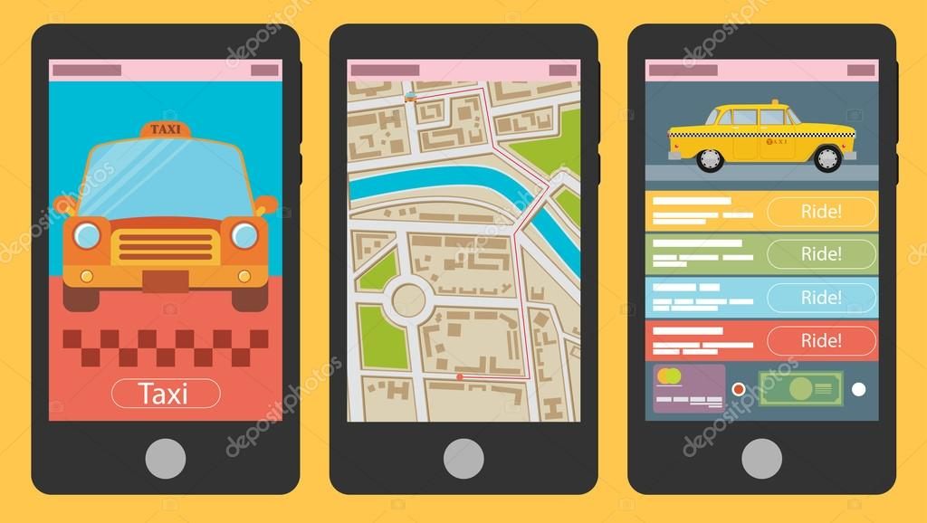 Mobile app for booking taxi