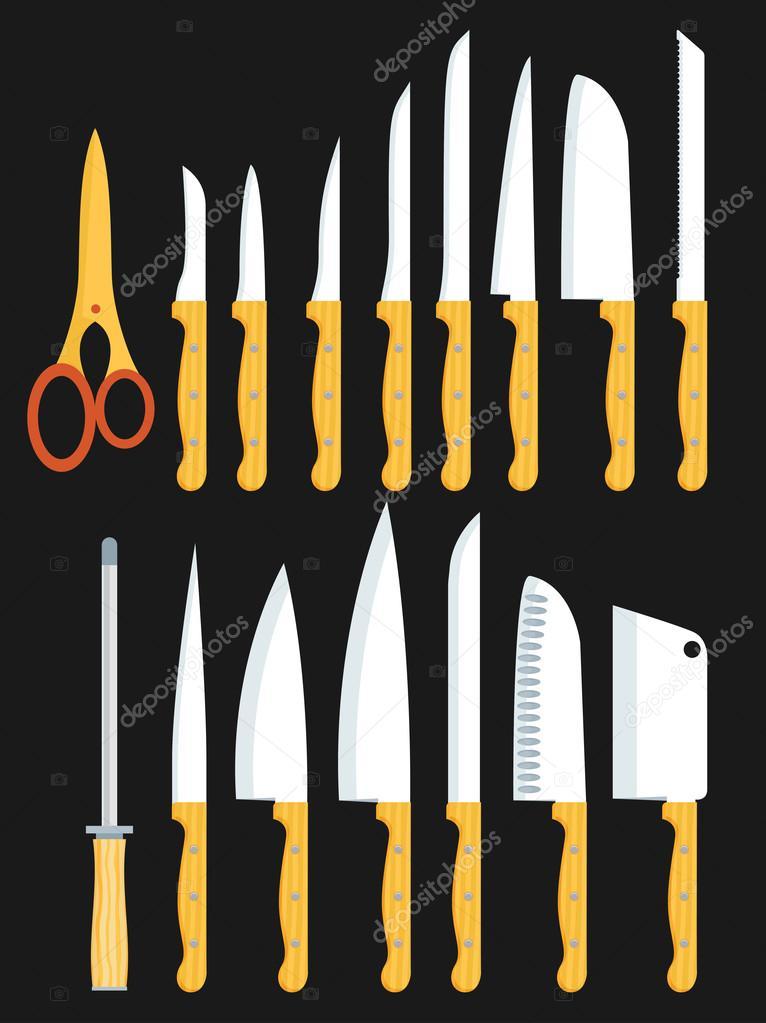 Diff rents types de couteaux de cuisine image for Type de couteau cuisine