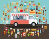 Wagen der leckeren Sommer-essen