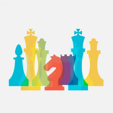 Chess pieces business sign