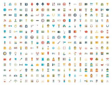Set of icons. Flat design.