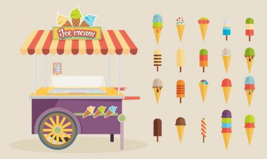 Set of ice-cream icons