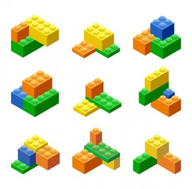 Plastic Building Blocks and Tiles