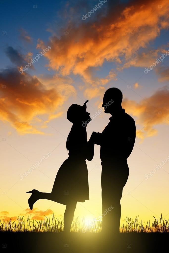 Imágenes Vaqueras De Amor Para Descargar Silueta De Pareja En El