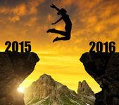 Dívka se přejde na nový rok 2016