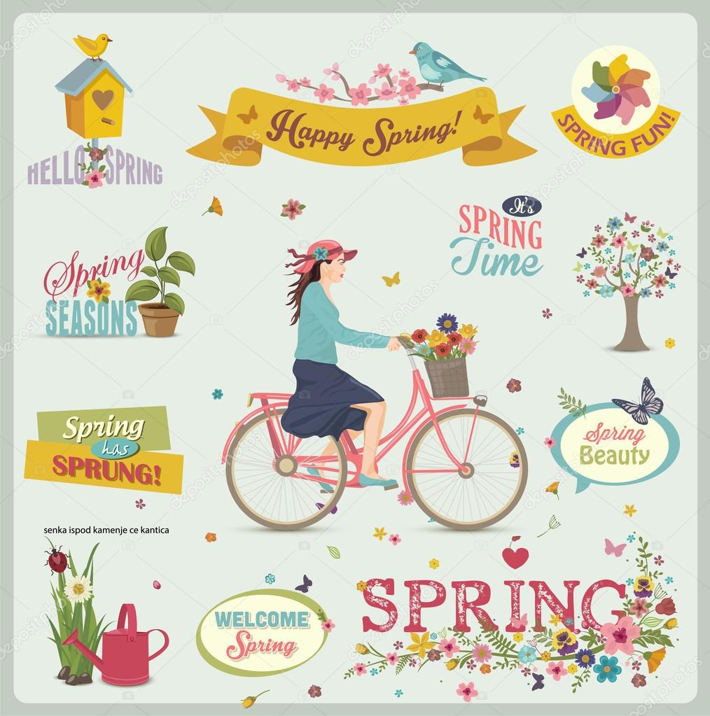 Spring Design Element