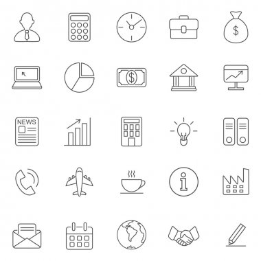 Business  icons, set.