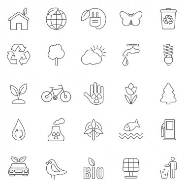 Eco  icons, set