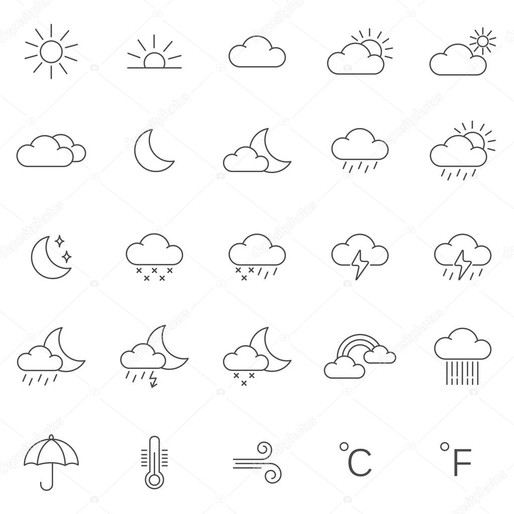 Weather  icons, set.
