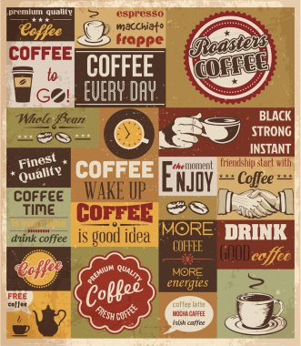 Collection of Coffee Design Elements.