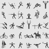 sportovní sada ikon