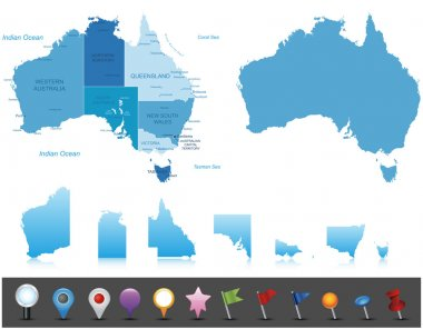 Australia -  highly detailed map.