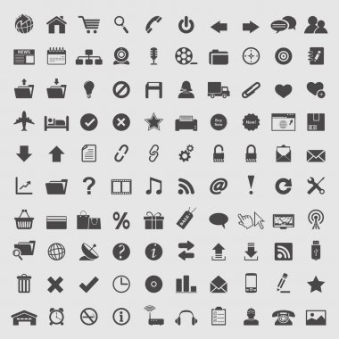 Big collection of web icons.