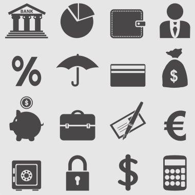 Banking icons set.