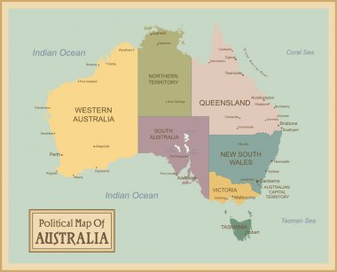 Australia-highly detailed map.