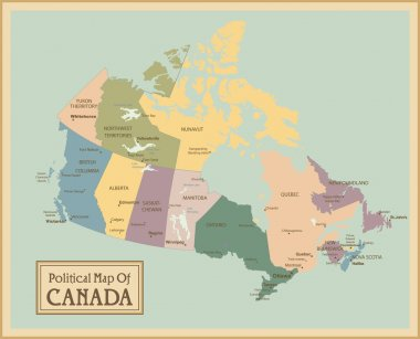 Canada - highly detailed map.