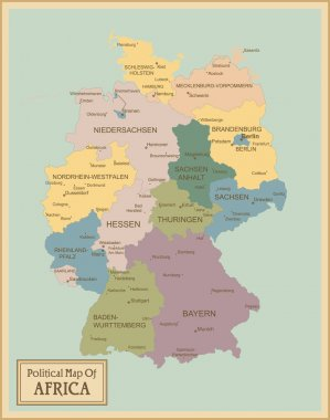 Germany-highly detailed map.