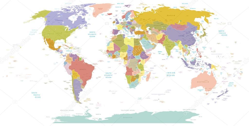 Cartina Mondo Politico.ᐈ Mondo Politico Cartina Del Mondo Fotografie Di Stock Immagini Planisfero Mondo Politico Scarica Su Depositphotos