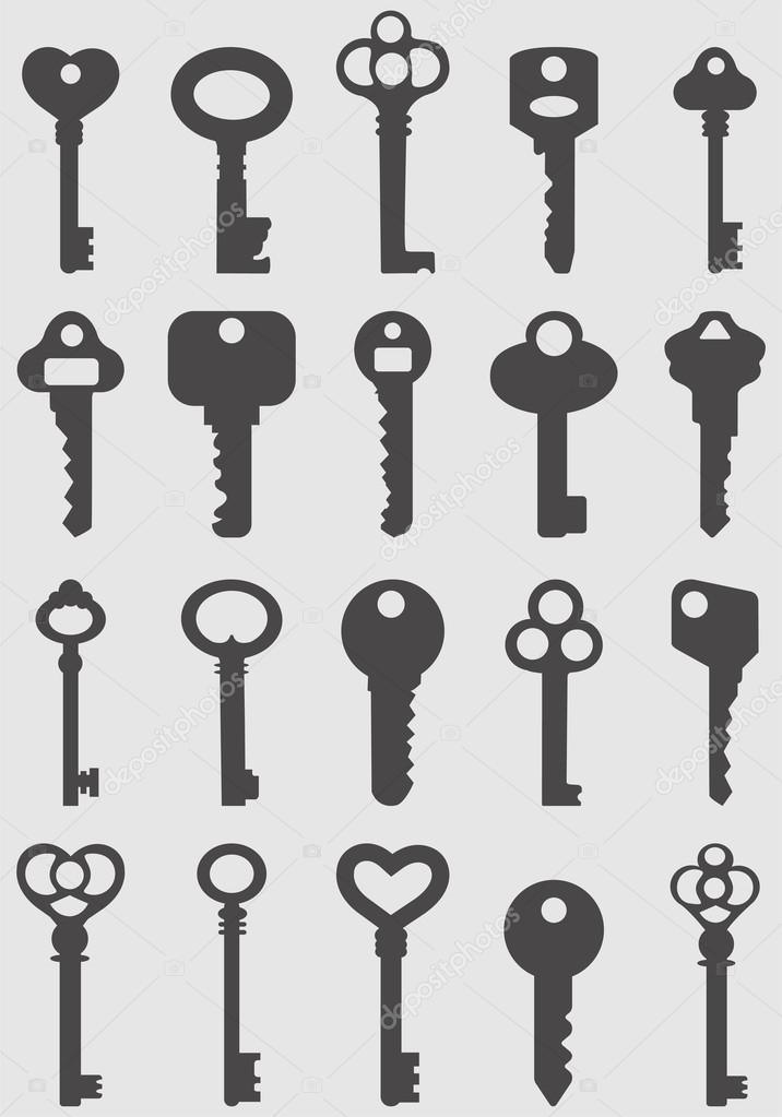 Key icons set.