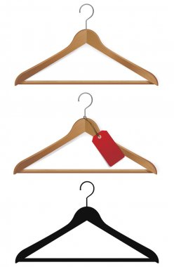 hanger with red label