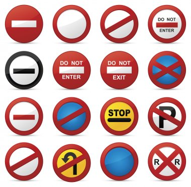 Road signs, set