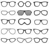 Černé brýle sada