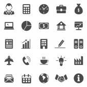 Obchodní černé ikony