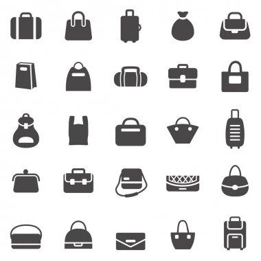 Bags black icons
