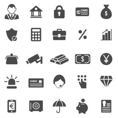 Bank black icons