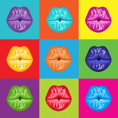Pop Art Colorful Lips