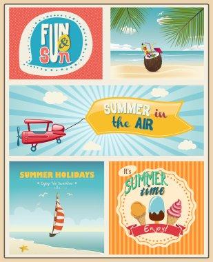 Summer logo and labels design