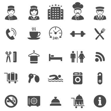 Hotel black icons