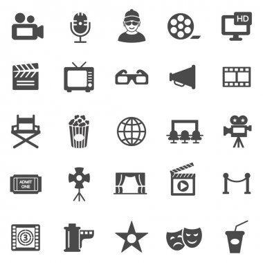 Movie black icons