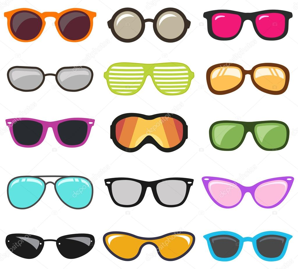 Colorful glasses set