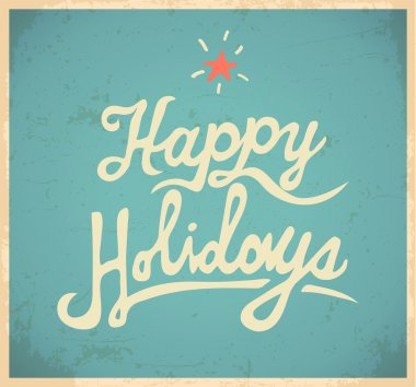 Happy Holidas lettering