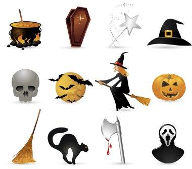 halloween set icons