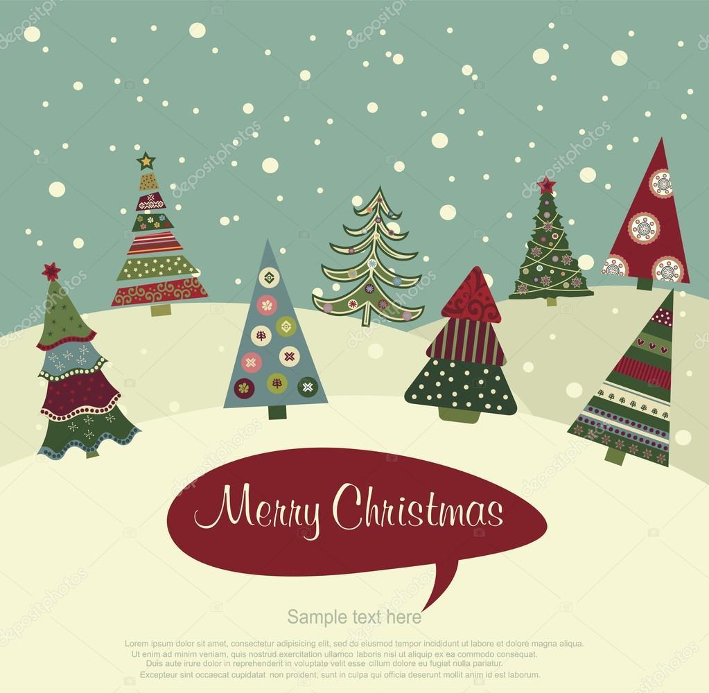 Feliz tarjeta de Navidad marco — Vector de stock © Ekler #88228338