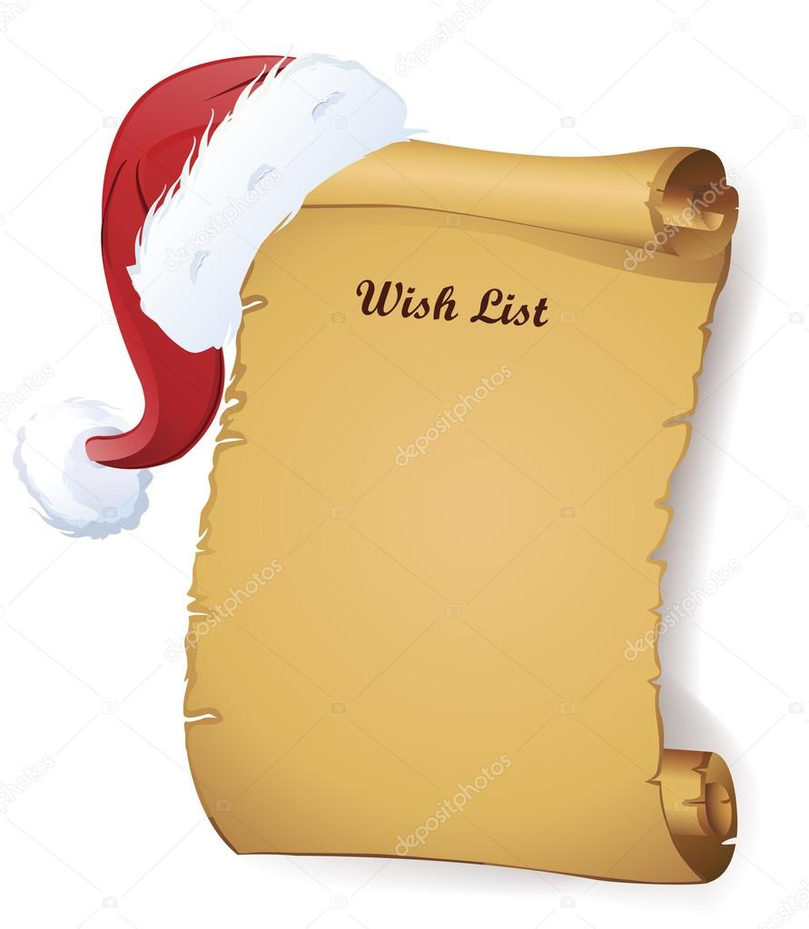 Christmas Santa Roll Wish List U2014 Vector By Ekler