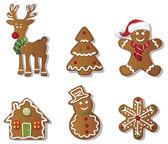 karácsonyi gingerbreads beállítása