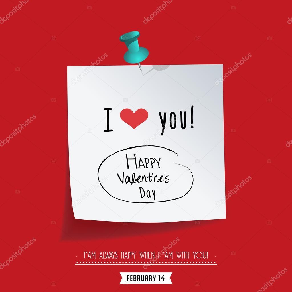 Valentinstag-Papier-Herz-Aufkleber — Stockvektor © Ekler #97404536