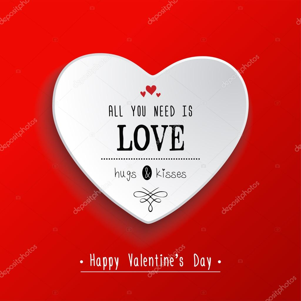 Valentinstag-Papier-Herz-Aufkleber — Stockvektor © Ekler #97404720