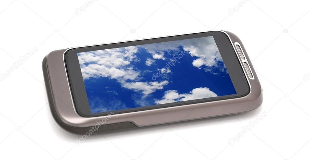 depositphotos 114994300 stock photo smartphone with nature screen wallpaper