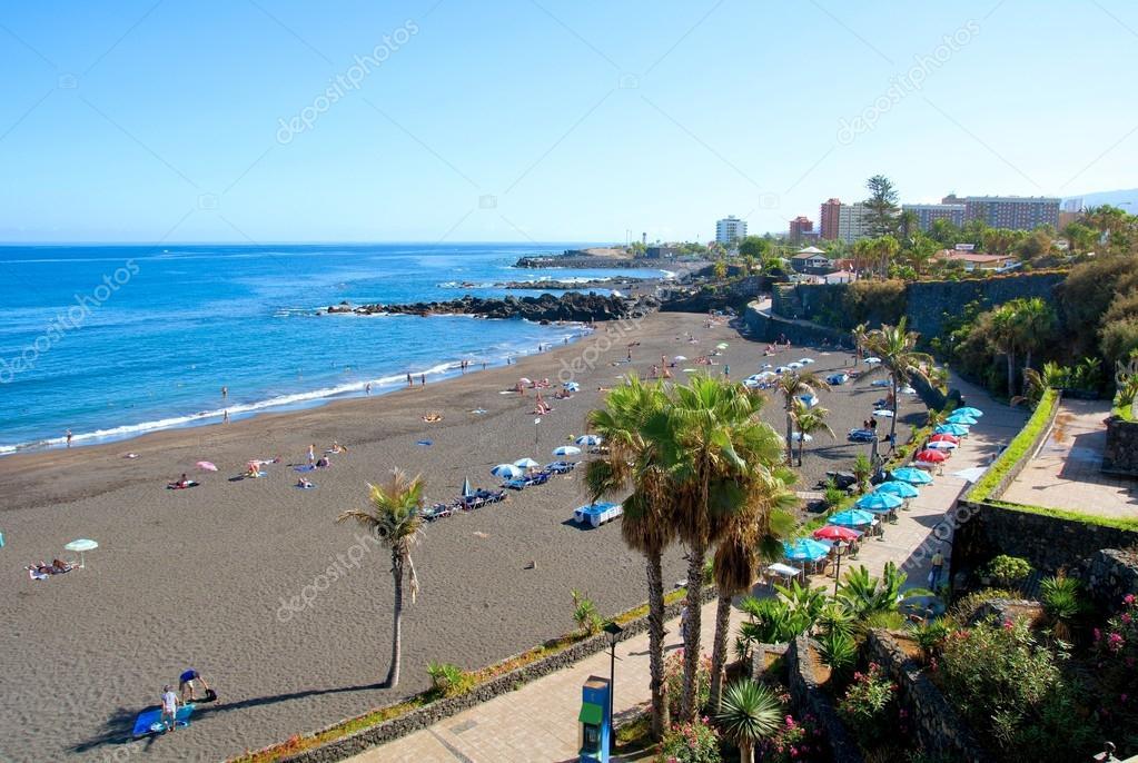 Spiaggia di tenerife foto editoriale stock hamikus for Aparthotel jardin de playa