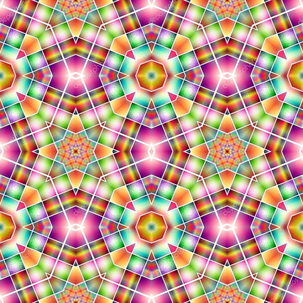 3c01ed5f0 Padrão de caleidoscópio de cores — Stock Photo © hamikus  96088298